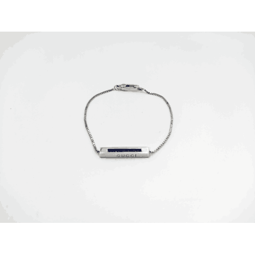 GUCCI BRACELET IN WHITE GOLD WITH SAPPHIRES