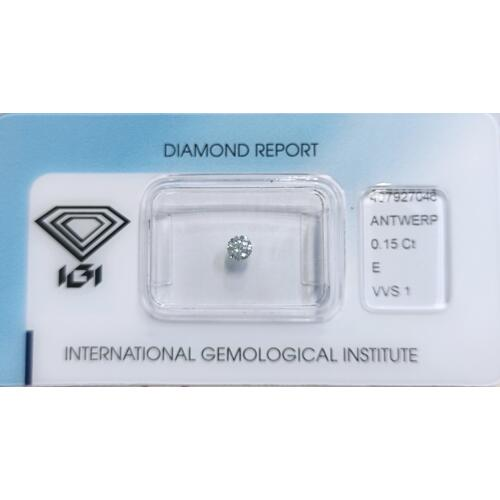 DIAMANTE CERTIFICATO 0,15ct E VVS1
