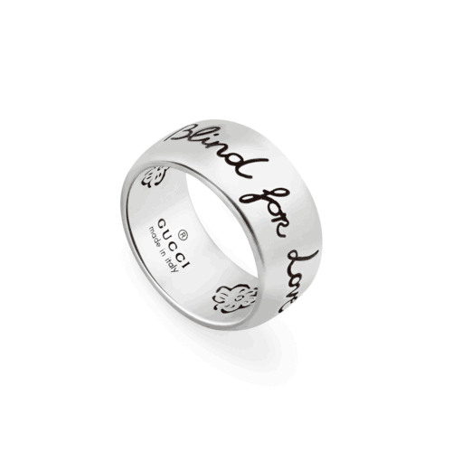 ANELLO GUCCI BLIND FOR LOVE IN ARGENTO