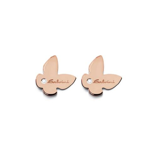 BE HAPPY SALVINI EARRINGS IN ROSE GOLD AND DIAMONDS