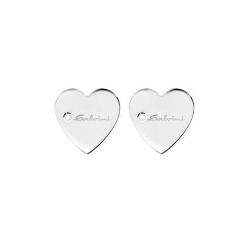 """SALVINI """"BE HAPPY"""" EARRINGS IN WHITE GOLD AND DIAMONDS"""