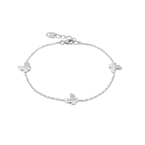 """SALVINI """"I SEGNI"""" BRACELET IN WHITE GOLD WITH BUTTERFLIES"""