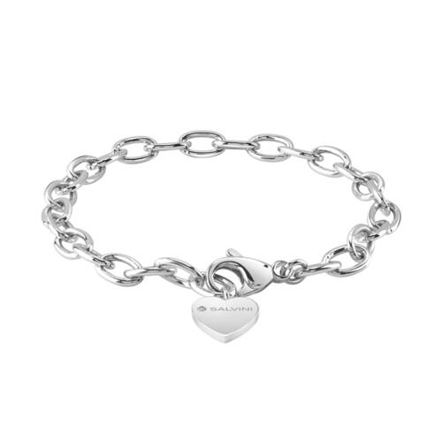 """SALVINI """"CHARMS OF LOVE"""" BRACELET IN SILVER WITH DIAMOND"""